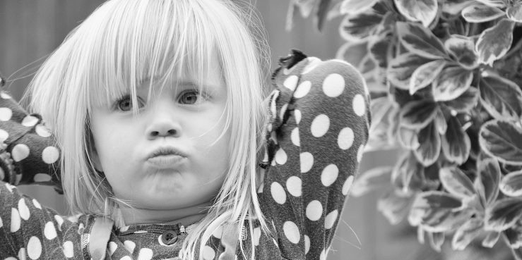 annoyed little girl. don't take it personally. property investor tip. buy to let landlord tip